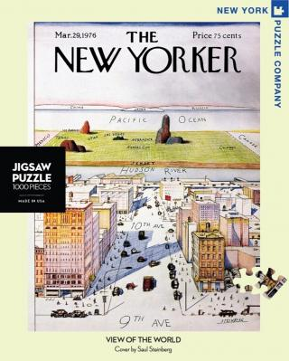 New Yorker View of The Word From 9th Avenue - 1000 Piece Jigsaw Puzzle