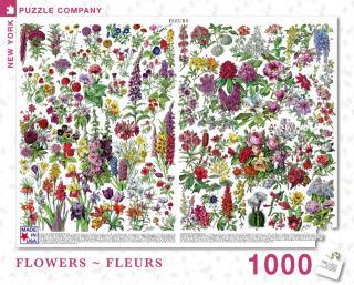 Flowers Fleurs - 1000 Piece Jigsaw Puzzle