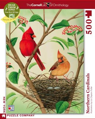 Northern Cardinals - 500 Piece Jigsaw Puzzle - Box Front